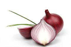 Oignon rouge et persil frais Photos stock