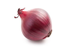 Oignon rouge sur le blanc Images stock