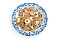 oignons de poulet Images stock