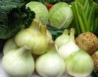 Oignons et d'autres légumes Photo libre de droits