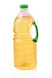 Oil. Bottle of oil. A white background Stock Photos