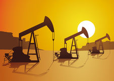 Oil. Exploration in the desert Stock Image