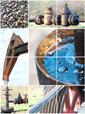 Oil. Extraction, collage from 6 photo Stock Images