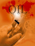 Oil. A montage of elements regarding the current state of world economies and oil Royalty Free Illustration