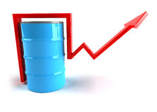 Oil. Barrel, 3d generated picture Stock Images