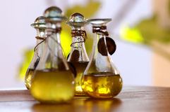 Oil. A Bottle with aromatic oil Royalty Free Stock Photo