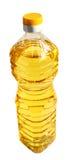Oil. Bottle of vegetable oil on a white background Stock Photos