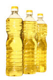 Oil. Bottle of vegetable oil on a white background Royalty Free Stock Images
