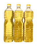 Oil. Bottle of vegetable oil on a white background Royalty Free Stock Photos