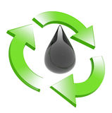 Oil. Preservation of stocks of oil in the nature vector illustration
