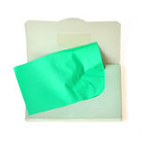 Oil absorbing. (blotting) sheets to remove excess oil on oily face royalty free stock photo