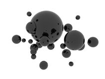 Oil abstract black spheres Royalty Free Stock Photography
