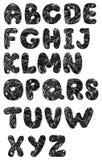 Oil alphabet Stock Images