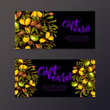 Oil background eco flyers design gift certificates Stock Images