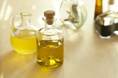 Oil and balsamic vinegar Royalty Free Stock Photography