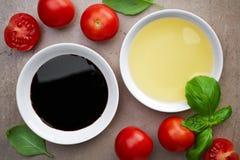 Oil and balsamic vinegar Stock Image