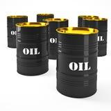 Oil barell. 3d image of oil barel on white stock illustration