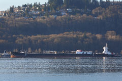 Oil Barge, Burrard Inlet Stock Image