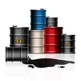 Oil barrel. Vector design  illustration royalty free illustration