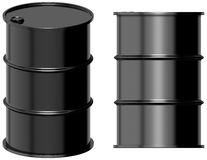 Oil barrel. 3D computer illustration on white background Stock Image