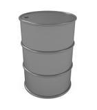 Oil barrel. On white - 3d illustration stock illustration