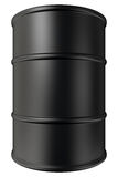 Oil barrel. Black oil barrel isolated on white background Royalty Free Stock Photography