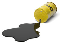 Oil barrel. Very high resolution 3D rendering of an oil barrel stock illustration