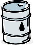 Oil barrel. Vector image of stylized oil barrel stock illustration