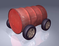 Oil barrel 3d Stock Image