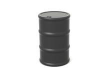 Oil Barrel. Single black 3d rendered oil barrel Royalty Free Stock Image