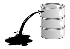 Oil barrel stock image