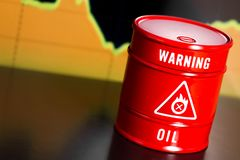 Oil barrel with chart Stock Image