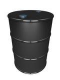 Oil barrel black. Barrel of oil black in color, on white background. non renewable carbon emitting dirty fuel concept stock illustration