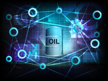 Oil barrel in business world transfer network vector Royalty Free Stock Photo