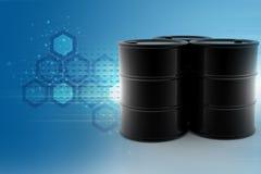 Oil barrel. In color background stock illustration