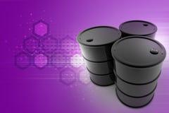 Oil barrel. In color background vector illustration
