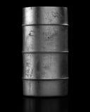 Oil barrel on dark background Stock Photo