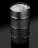 Oil barrel on dark background Royalty Free Stock Images