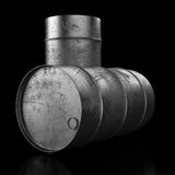 Oil barrel on dark background Royalty Free Stock Photography