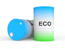 Oil barrel with ECO fuel Royalty Free Stock Image