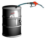 Oil barrel is empty. Problems resources stock illustration