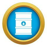 Oil barrel icon blue vector isolated. On white background for any design royalty free illustration