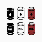 Oil barrel icon vector illustration for oil price forecast prese. Ntation Royalty Free Stock Photography