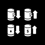 Oil barrel icon vector illustration for oil price forecast prese. Ntation Stock Image