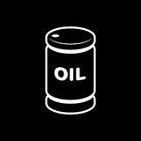 Oil barrel icon vector illustration for oil price forecast prese. Ntation Stock Images