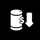Oil barrel icon vector illustration for oil price forecast prese. Ntation Royalty Free Stock Photo