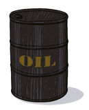 Oil barrel illustration. Isolated oil barrel cartoon Royalty Free Stock Photography