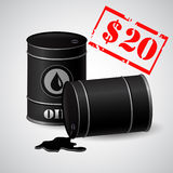 Oil Barrel Illustration Price 20 dollars. Per barrel royalty free illustration