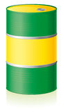 Oil barrel isolated Royalty Free Stock Photo