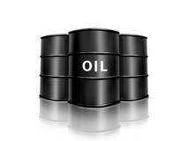 Oil barrel. Isolated on white background stock illustration